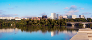 Downtown of Arlington, Virginia and Potomac River