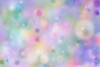 Colourful rainbow magic light, abstract bokeh background on white