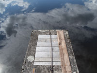 Manhole access in the lake