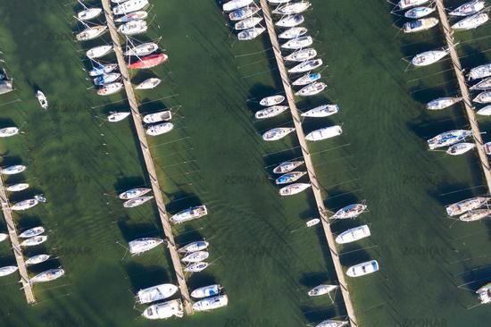 Aerial View of Lynetten Sailboat Harbor in Copenhagen