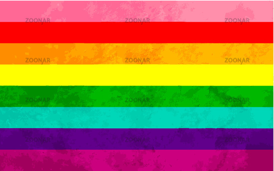 Original eight-stripe 1978 version of pride flag with grunge texture, LGBT sign