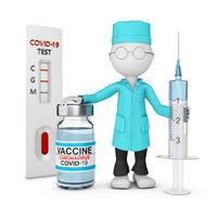 A doctor with vaccine 11