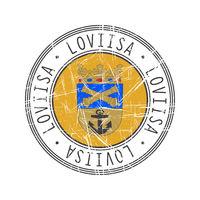 Loviisa city postal rubber stamp