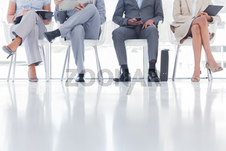 Group of business people waiting