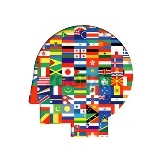 flags of the world with icon set