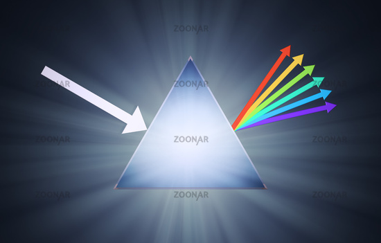 Conceptual prism illustration