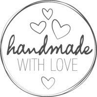 round HANDMADE WITH LOVE sticker