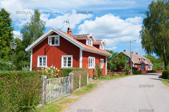 Idyllic street view in Pataholm, Sweden