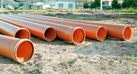 Several plastic pipes used in construction