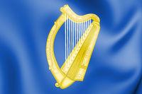3D Republic of Ireland coat of arms. 3D Illustration.