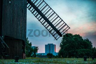big brown windmill in Berlin
