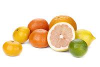 mix of colorful citrus fruit