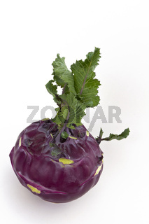 Kohlrabi - brassica oleracea gongylodes - cabbage turnip