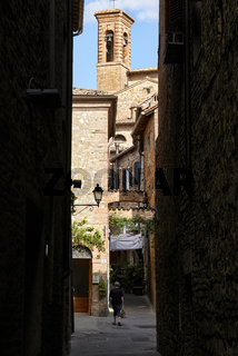 Città della Pieve Umbria Italy. The alleys in the old town