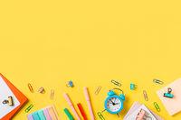Education, freelancer work desk, back to school