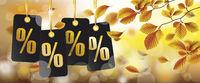 Autumn Black Price Stickers Beech Foliage Header