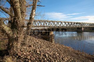Eisenbahnbrücke Herrenkrugbrücke bei Magdeburg