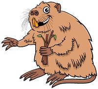 cartoon funny nutria comic animal character