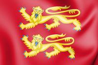 3D William the Conqueror coat of arms (1066-1087). 3D Illustration.