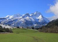 Mount Schluchhore after new snowfall.