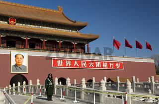Wachsoldat am Tor des himmlischen Friedens, Peking