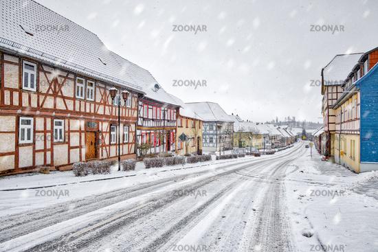 Güntersberge in the Harz winter atmosphere