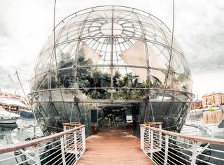 Small but rich botanical garden-Biosphere. Genova,Italy