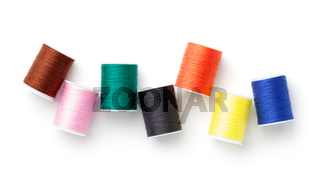Sewing Threads Isolated On White Background