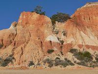 Red rocks on Falesia Beach near Albufeira, Algarve - Portugal