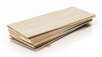 Wood planks isolated on white background. 3D illustration