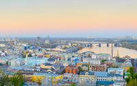 Skyline Kyiv Podil Old Town