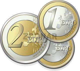 2 + 1 euro.eps