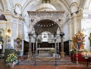 Spello Umbria Italy. Santa Maria Maggiore church