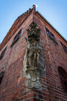 A copy of the original 1507 statue of Saint Maurice. Jueterbog, Brandenburg district, Germany
