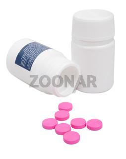 Pink Pills in Bottle