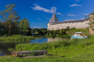 Ancient historical old Ladoga fortress in the village of Staraya Ladoga - Leningrad region Russia