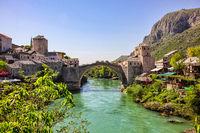 The remarkable bridge in Mostar, Bosnia and Herzegovina