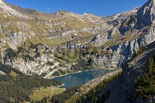 Oeschinensee im UNESCO Weltnaturerbegebiet Schweizer Alpen