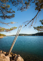 beach ladder for fishing in croatia