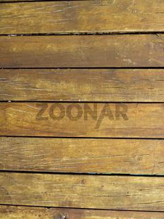 Wood planks bound together