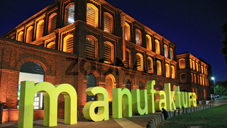 Manufaktura arts centre, shopping mall, and leisure complex in Lodz Poland