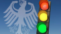Traffic light red, yellow, green. Symbolic image for a coalition of the SPD, FDP and the Greens.