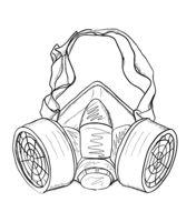 Vector illustration of respirator FFP1 FFP2 FFP3