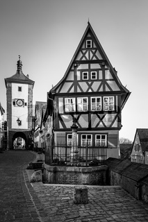 Old houses in Rothenburg ob der Tauber