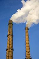 Industrial steam smokestack