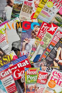 Viele deutsche Zeitschriften