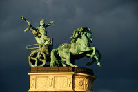 horse statue hero square budapest