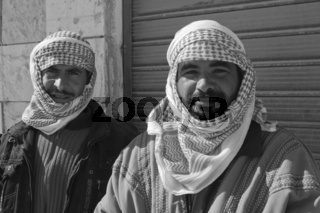 Araber in Umm ar-Rasas, Jordanien