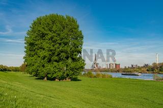 View towards Huettenwerke Krupp-Mannesmann, Duisburg, North Rhine-Westphalia, Germany