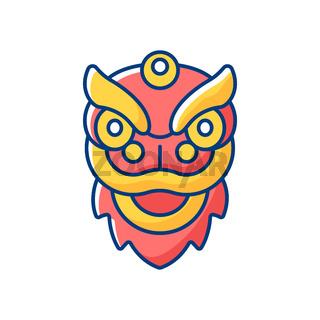 Dragon dance RGB color icon